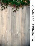 festive christmas wreath with... | Shutterstock . vector #224709937