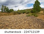 Completely Dry Riverbed Full...
