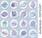 help for colds set. set of... | Shutterstock .eps vector #224714437