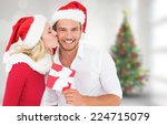 Young Festive Couple Against...
