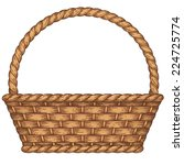 empty woven basket isolated on... | Shutterstock .eps vector #224725774