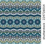 indian seamless floral pattern. ... | Shutterstock .eps vector #224726014