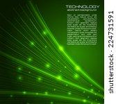 green technology background... | Shutterstock .eps vector #224731591