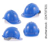 helmet set isolated on a white... | Shutterstock . vector #224737321