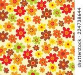 seamless autumn flower pattern    Shutterstock .eps vector #224738644