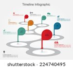 timeline infographics with... | Shutterstock .eps vector #224740495