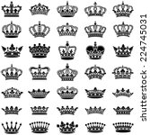 crown collection   vector... | Shutterstock .eps vector #224745031