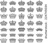 crown collection   vector... | Shutterstock .eps vector #224745034
