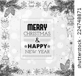 merry christmas and happy new... | Shutterstock .eps vector #224748871