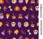 seamless halloween pattern with ... | Shutterstock .eps vector #224749801
