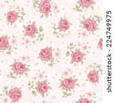 floral seamless vintage pattern.... | Shutterstock .eps vector #224749975