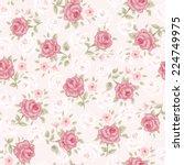 floral seamless vintage pattern.... | Shutterstock .eps vector #224749975