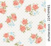 floral seamless vintage pattern.... | Shutterstock .eps vector #224749981