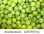 Background Of Green Apples On...