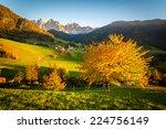 Val Di Funes  Italy  Autumn...