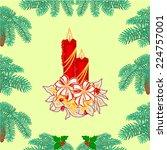 seamless texture christmas... | Shutterstock .eps vector #224757001