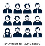 collection of characters  ... | Shutterstock .eps vector #224758597