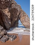 Small photo of Beautiful beach of adraga, the south of Portugal