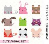 vector illustration of animal... | Shutterstock .eps vector #224767111