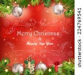 christmas illustration with...   Shutterstock .eps vector #224769541