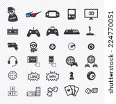 Game Icons Set. Illustration...