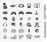 Game Icons Set. Illustration...