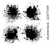 collection of four ink splats... | Shutterstock . vector #22477249