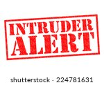 Постер, плакат: INTRUDER ALERT red Rubber