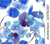 decorative flower seamless... | Shutterstock . vector #224782387