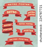 set of vintage ribbons... | Shutterstock .eps vector #224787721