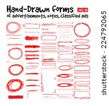 hand drawn forms to highlight... | Shutterstock .eps vector #224792065
