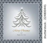 vector greeting christmas card. ... | Shutterstock .eps vector #224800441