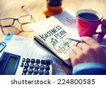 businessman writing business... | Shutterstock . vector #224800585