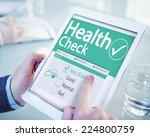 digital health check healthcare ... | Shutterstock . vector #224800759