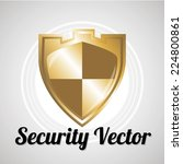 shield security vector over... | Shutterstock .eps vector #224800861