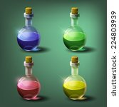 bottles of potion. vector... | Shutterstock .eps vector #224803939