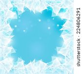 abstract frozen ice texture on...   Shutterstock .eps vector #224806291