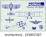 Vintage Airplanes Drawing On...