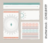 set of tribal banners and... | Shutterstock .eps vector #224818459