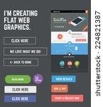 flat web kit for designing web... | Shutterstock .eps vector #224821387
