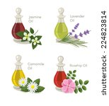 vector essential oils set | Shutterstock .eps vector #224823814