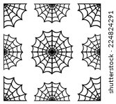 set of spiderweb black isolated ... | Shutterstock .eps vector #224824291