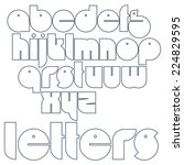 round outline letters.... | Shutterstock .eps vector #224829595