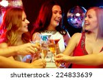 new year celebration  friends ... | Shutterstock . vector #224833639
