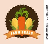 farm fresh graphic design  ... | Shutterstock .eps vector #224833885