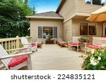 wooden walkout deck with many... | Shutterstock . vector #224835121