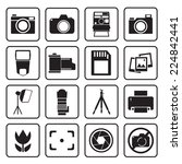 camera icon | Shutterstock .eps vector #224842441