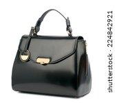 black patent female bag... | Shutterstock . vector #224842921