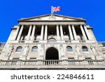 bank of england with flag  the... | Shutterstock . vector #224846611