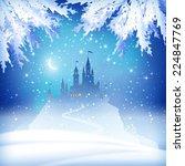 Christmas Winter Vector Castle...